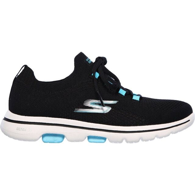 SKECHERS | BLACK GO WALK TRAINERS