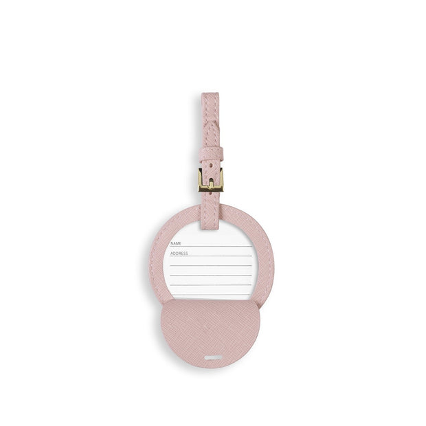 KATIE LOXTON | PINK CIRCLE LOVE LIFE LUGGAGE TAG