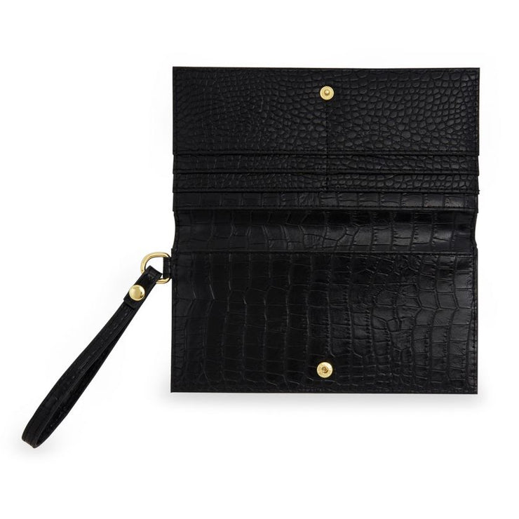 BLACK CELINE WRISTLET PURSE