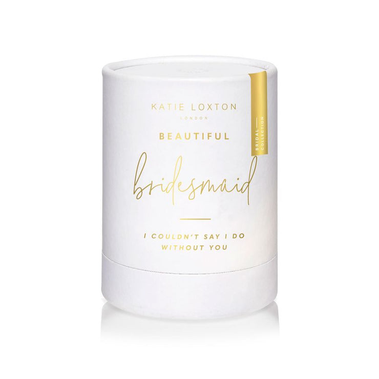 BEAUTIFUL BRIDESMAID SENTIMENT CANDLE