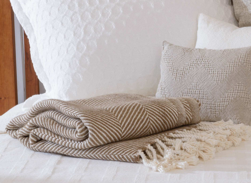 3 Reasons Why We Love the Herringbone Design for Blankets & Throws