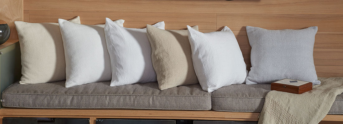 <p>Pillows, the art in the room. <a href=