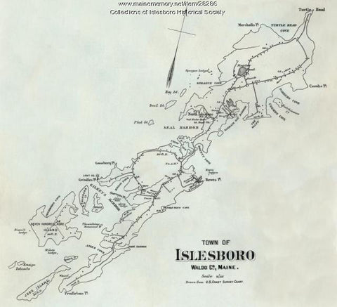 Map of Islesboro Island