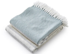 Allagash folded throw in Matka, Dove Gray and Oyster
