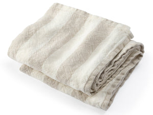 Baxter folded towel in Pearl/Natural color variation.