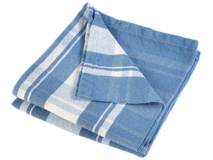 Bailey folded blanket in Denim color variation.