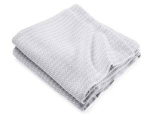 Chebeague Dove Gray folded throw.