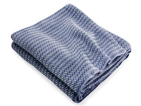 Chebeague Indigo folded throw.