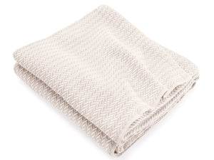 Chebeague Natural folded throw.