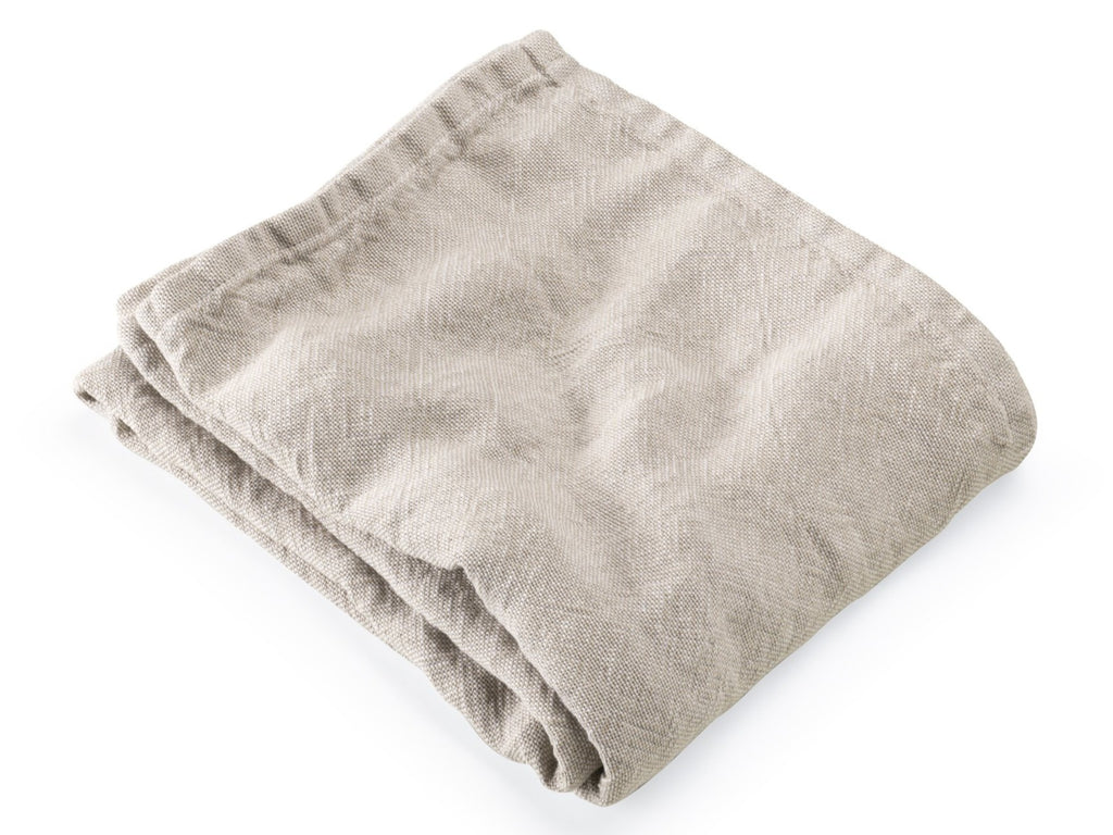 Lamoine Natural on Pearl folded blanket.