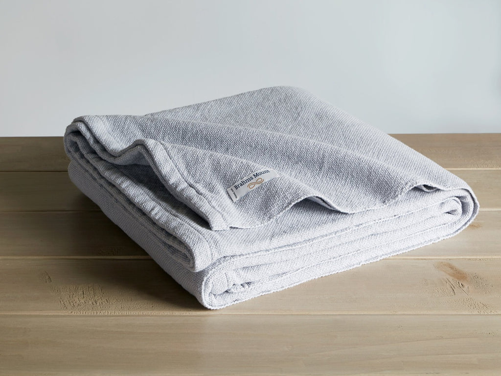 Milo Gray Heather folded blanket.