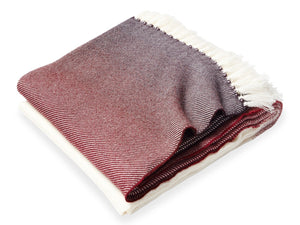 Palermo Oxblood folded throw.