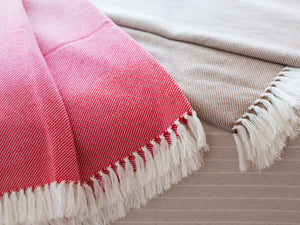 Palermo wool throw close-up image.
