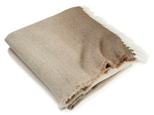 Palermo Oatmeal folded throw.