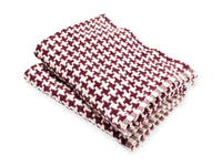 Rockport Garnet folded throw.