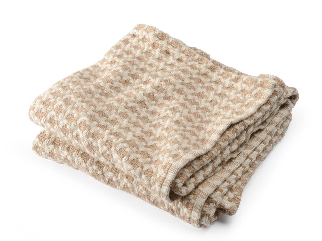 Rockport Camel folded throw.