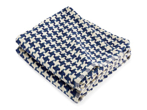 Rockport Indigo folded throw.