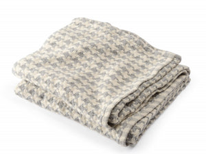 Rockport Silver folded throw.