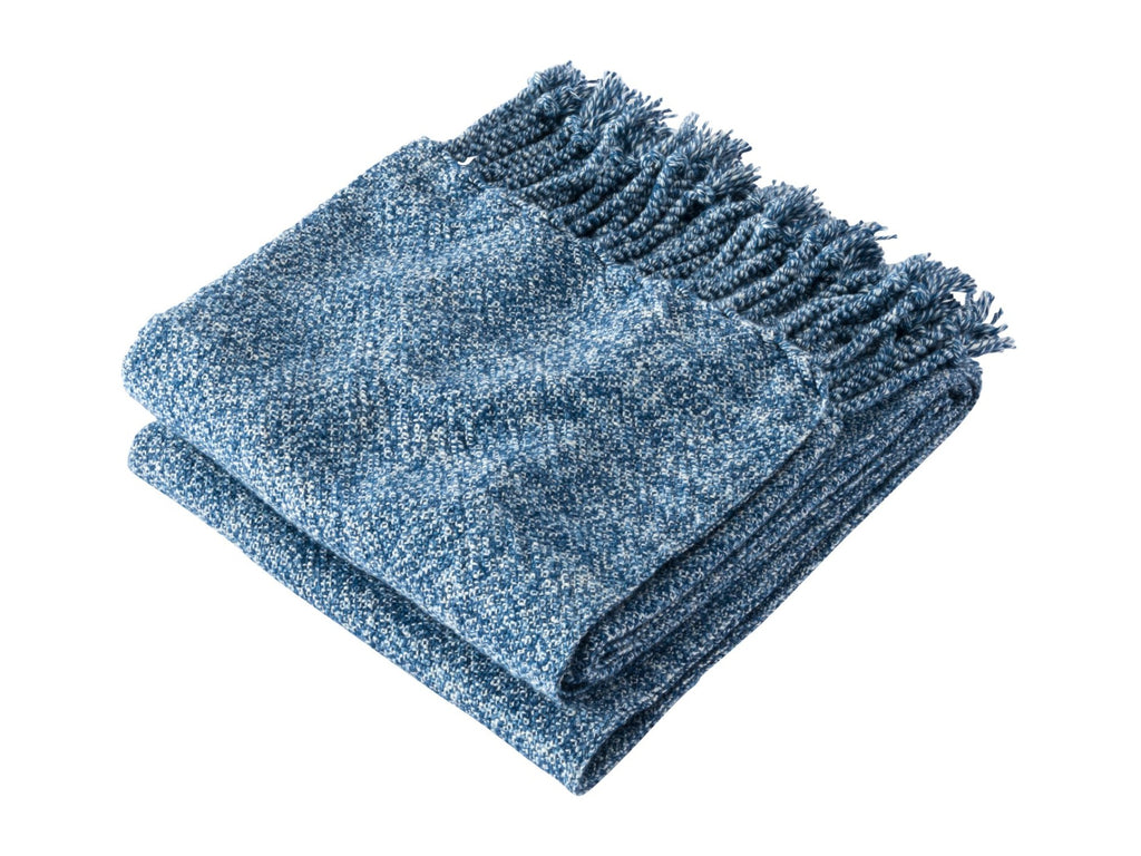 Sebasco Indigo folded blanket.