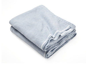 Thorndike Denim folded blanket.