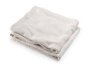 Winslow White/Oyster folded blanket.