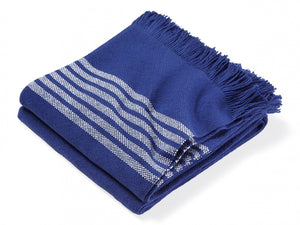 Pembroke Navy folded throw.