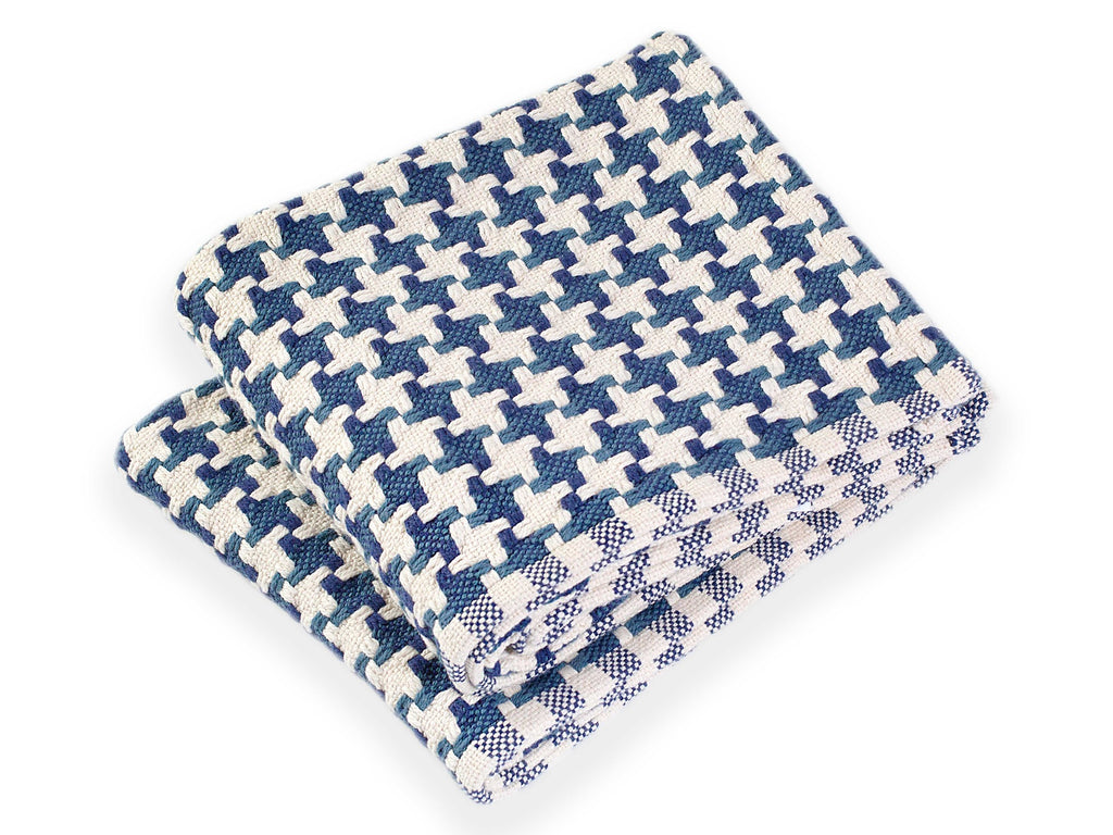 Bucksport Indigo folded throw