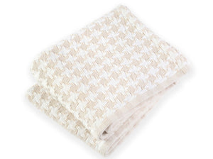 Bucksport Natural folded throw.