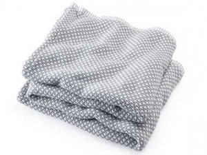 Edgecomb Dove Gray folded blanket.