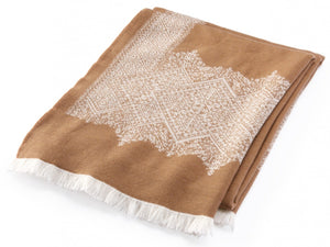 Fez Mocha throw folded throw.