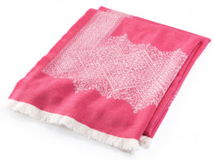 Fez Peony throw folded throw.