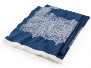 Fez Indigo throw folded throw.