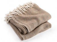 Isleboro Natural/Oak folded throw.