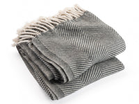 Isleboro Natural/Slate folded throw.