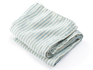 McClary Light Indigo folded towel.