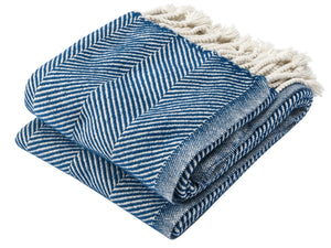 Islesboro Indigo folded throw.