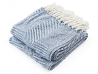 Newfield Indigo Twist folded throw.