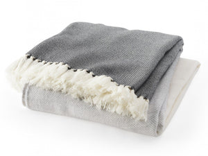 Palermo gray folded throw.