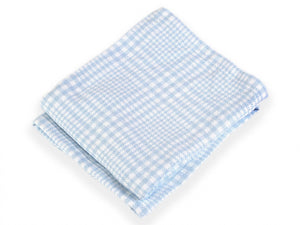 Puffin Pale Blue folded blanket.