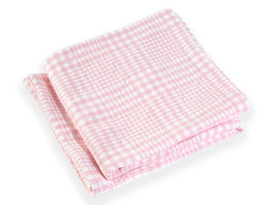 Puffin Pale Pink folded blanket.