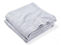 Winslow Navy folded blanket.