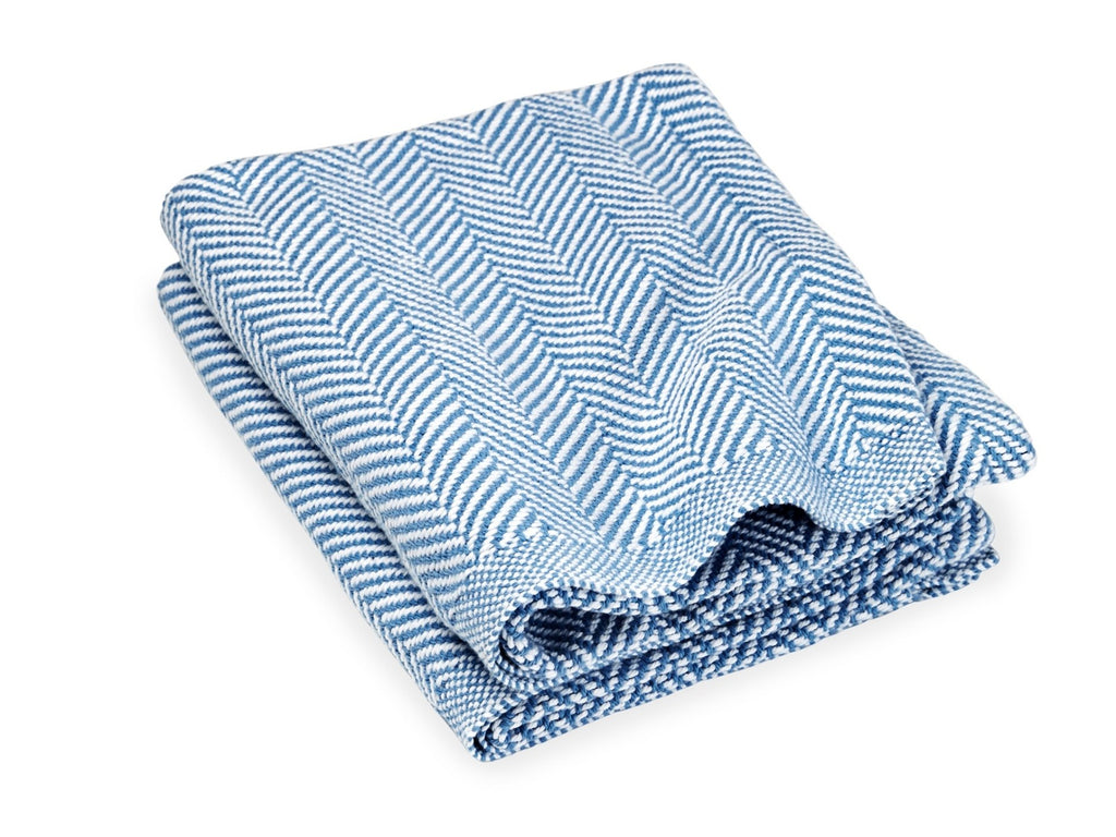 Penobscot Denim folded blanket.