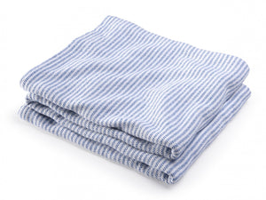 Winslow Baja Blue folded blanket.