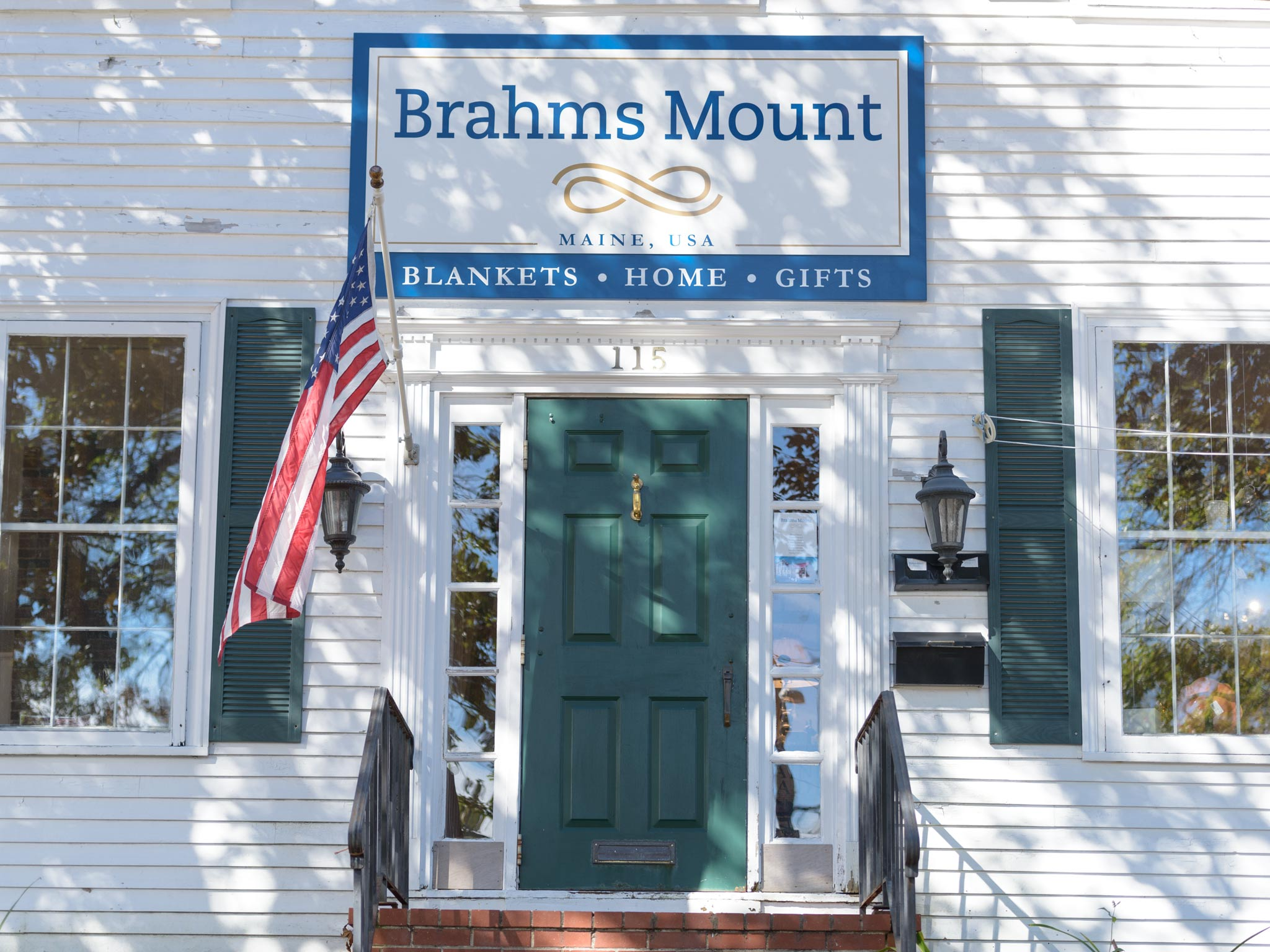 The Brahms Mount retail store is located in Freeport Maine in a building built in 1779 that used to be an Inn