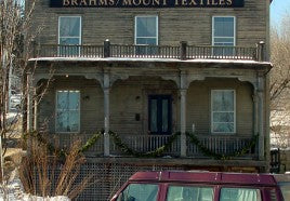 Brahms Mount textilesFront of Building