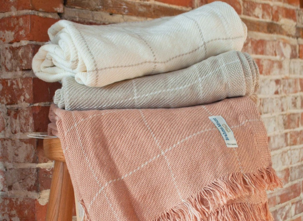 Linen Window Pane Throw
