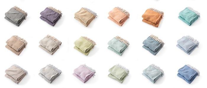 Cotton Throw Colors