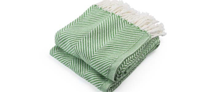 Sugar Snap cotton herringbone Throw