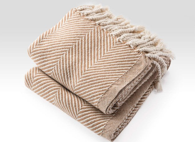 Maple Herringbone Throw