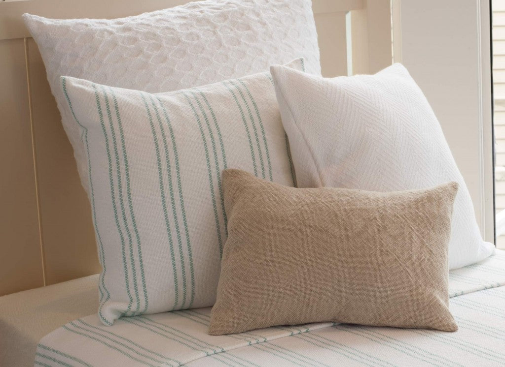 Starry Nights pillow with Stonington in Island Blue